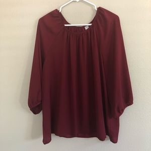 Old Navy Maroon Blouse 2XL
